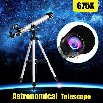 675x Astronomical Refractive Telescope 60mm Aperture Zoom Monocular AU