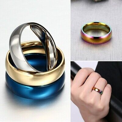 6mm Stainless Steel Comfort Fit Plain Wedding Band Ring for Men Women Size 4-14