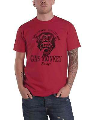 Gas Monkey Garage T Shirt GMG Custom Hot Rods Logo new Official Mens Red