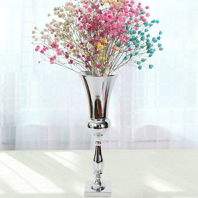 Large Plated Luxury Flower Vase Display Urn Table Centrepiece 60cm Party Wedding