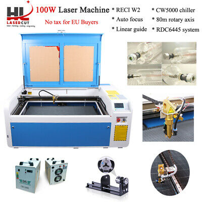 100W CO2 Laser Engraver Machine Laser Cutter Engraver DSP 1000*600MM US Ship