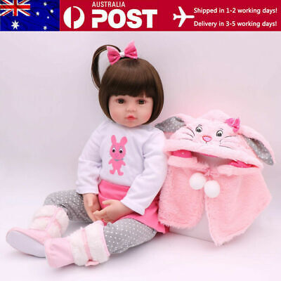 "16"" 40cm Reborn Baby Dolls Handmade Silicone Vinyl Lifelike Toddler Doll Gifts"