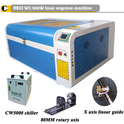100W Laser Engraver CO2 Laser Cutter Engraving Red-dot Position CW3000 Chiller