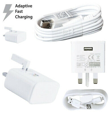 100% Genuine Fast Charger Plug & Cable For Samsung Galaxy S7 Edge S6 Edge Note