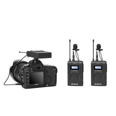 BOYA BY-WM8 Pro UHF Wireless Lavalier Microphone System for iPhone 8 Canon FZC
