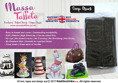 Fondant | Sugar paste | Ready Rolled Icing | Black | Cake Craft Bargain 1,2,5 KG