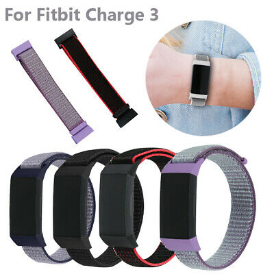 Replacement Woven Nylon Loop Bracelet Sport Watch Band Strap For Fitbit Charge 3