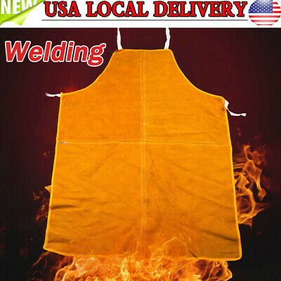 Welding Equipment Welder Heat Insulation Protection Cow Leather Apron Tool Kit