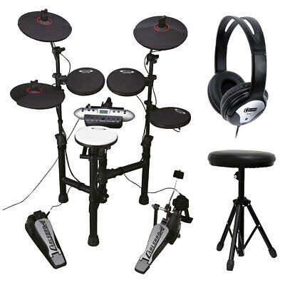 Carlsbro CSD120 8-Piece Electronic Drum Kit with Headphones,Stool and Drumsticks