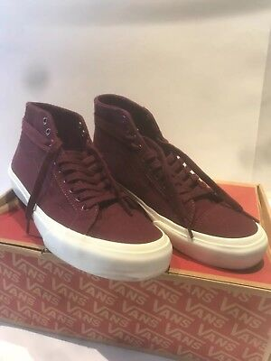 1d8ca2d04509f0 VANS Court Mid Sneakers Men s 10  WM 11.5 - Maroon Port Royale - EXC