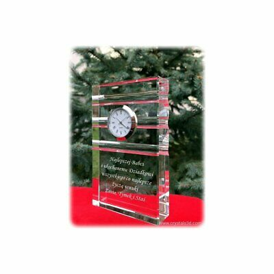 Crystal clock - a personalized gift for Grandparents - limited edition. design.