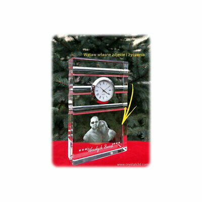 Crystal clock - a personalized Christmas gift - limited edition. Original design