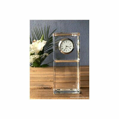 Crystal clock - a persolinased engraved gift - an exclusive, limited edition.