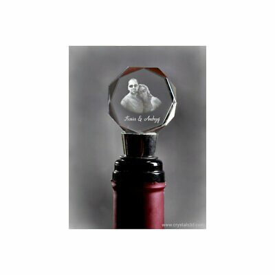 Crystal winestopper, with a metal stem - Valentine's Day Gift. crystal souvenir.