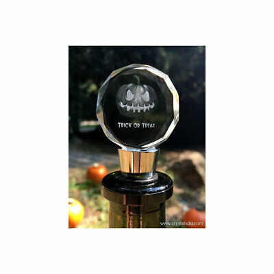 Crystal winestopper, with a metal stem - Halloween Gift. Exceptional souvenir.