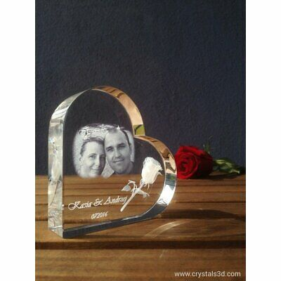 Crystal heart - a personalised gift for Valentine's with picture - Gift.