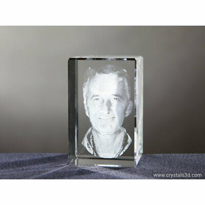 Personalised cuboid crystal - a gift. Crystal gift for Birthday. Engrave Photo