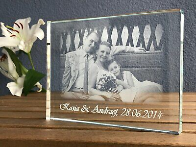 Personalised plaque crystal - Gift for the Anniversary. Crystal gift. Engrave