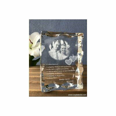 Personalised frame crystal - Gift for special occasion. Crystal gift. Engrave