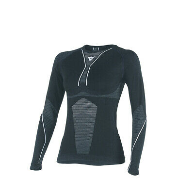 Dainese D-Core Dry Ladies LS T-Shirt Black/White