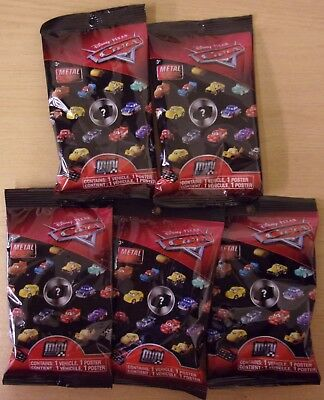 Disney Pixar Cars ~ 5 x Mini Micro Racers Die-cast ~ Sealed Blind Bags