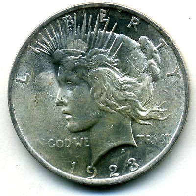 1923 P MS/BU Peace SILVER DOLLAR UNC/CH UNCIRCULATED MINT STATE US$1 COIN#3310