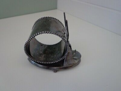 Silver Plated Figural Napkin Holder--Curling Broom And Stone--#647 M.b.c Co.