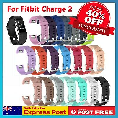For Fitbit Charge 2 Bands Silicone Replacement Wristband Watch Strap Bracelet
