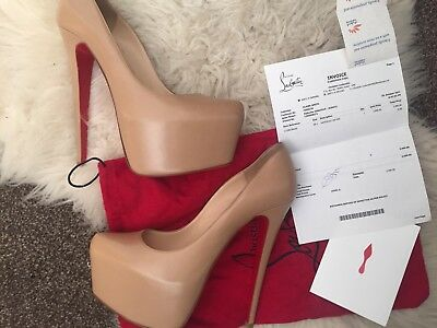 759a7240946 CHRISTIAN LOUBOUTIN DAFFODILE 38.5 UK (5.5) Nude Rare (only Pair On eBay)