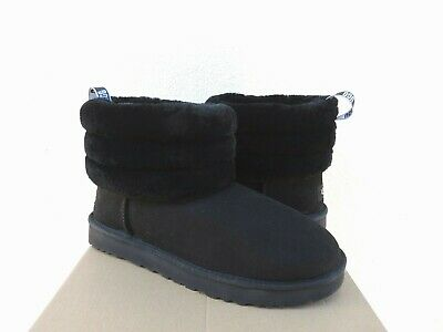 700d314e987 UGG CLASSIC MINI Fluff Quilted - Women's Boot - Black -NEW Authentic ...