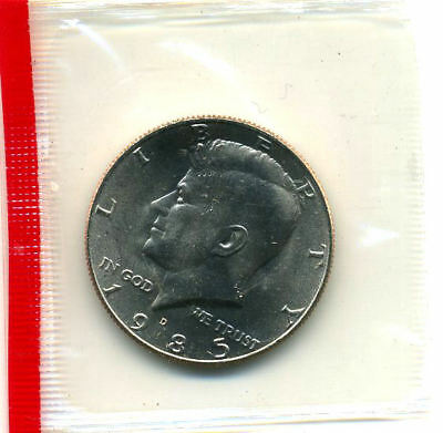 1985 D Gem Bu Kennedy Half Dollar Cello Government Sealed Unc 50 Cent Coin 1#213