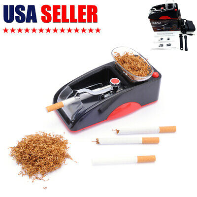 Red Cigarette Rolling Machine Electric Automatic Tobacco Roller Maker US Plug
