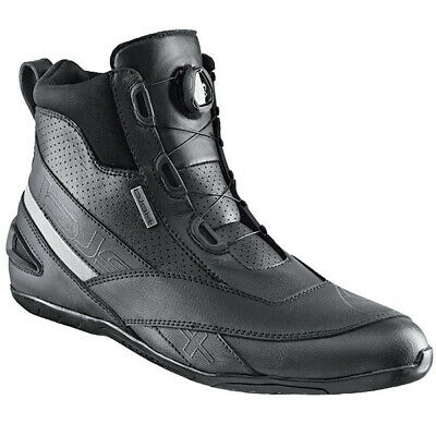 Held Downtown Mens Short Leather Microfibre Motorcycle Boots Black Sale