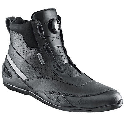 Held Downtown Mens Short Leather and Microfibre Motorcycle Boots Black Sale