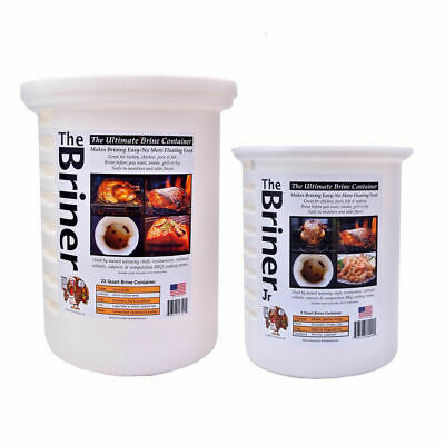 Briner BBQ Barbecue Brining Brine Buckets for Poultry Pork & Seafood COMBO PACK