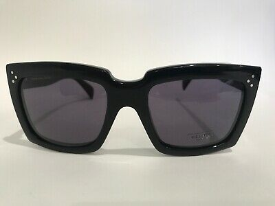 1436b05ce6a Celine CL 41800 S 807 BN Rectangular Black Sunglasses Made in Italy  Authentic