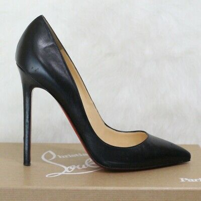 14b4a5e35663 Christian Louboutin Pigalle 120 Black Leather Pumps EU 37.5 US 7.5