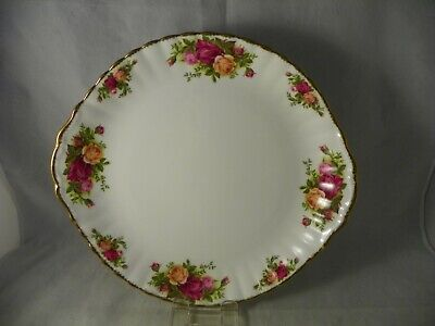 "ROYAL ALBERT - OLD COUNTRY ROSES Pattern: 10.5"" Cake/ Serving Platter w/ Handles"
