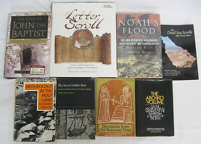 Holy Land Archaeology Middle East Biblical Antiquities Ancient Texts 8 Book Lot