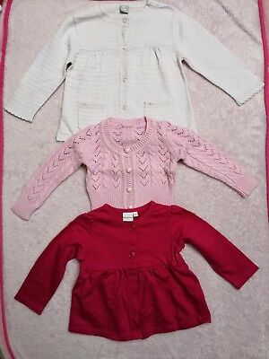 32418ba5cc7d BLUE ZOO TU Baby Girl knitted cardigan bundle set size 6-9 months ...