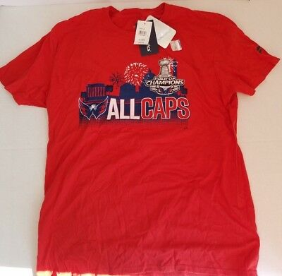 NHL Fanatics Washington Capitals All Caps Stanley Cup Champions Shirt 2018  Red a4b4bbffd