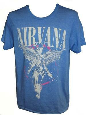 NEW Nirvana In Utero Unisex Mens Sizes S-M-L-XL-2XL Blue Soft Concert T-Shirt