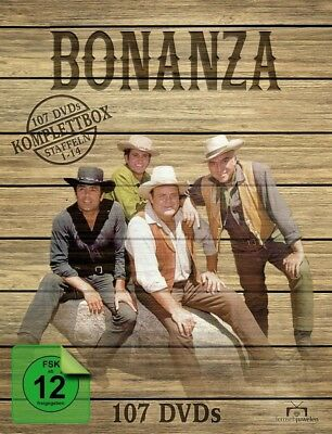 BONANZA-KOMPLETTBOX (Staffeln 1-14 - BONANZA  107 DVD NEW