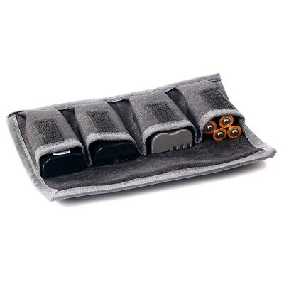 1x Nylon DSLR Battery Bag/ Holder/ Case Storage with 4 Pocket Pouch For Canon