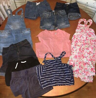 a92b18ddd341 10 Piece Lot Toddler Girl 4T Shorts Rompers Dress Overalls Gap Old Navy  Target