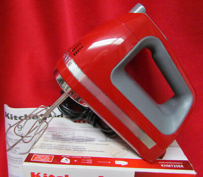 185010d244a KitchenAid 7 Speed Digital Red KHM720ER Hand Mixer Turbo Beaters Blender  Rod Bag