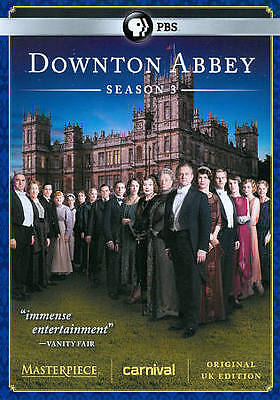 Masterpiece Classic: Downton Abbey Season 3, New DVD, Bonneville, Hugh, Shirley