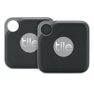 NEW Tile Pro Black 2018 - Mini Tracking Device 2 Pack [with replaceable battery]