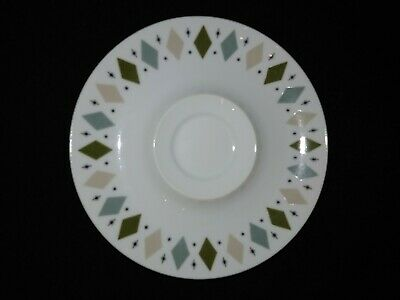 Norleans China Japan Mystic Pattern Saucer Deco Retro Atomic Vintage MCM