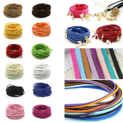10yd 3mm Suede Leather String Jewelry Making Bracelet DIY Thread Cord Wholesale